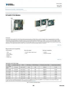 NI FlexRIO FPGA Modules