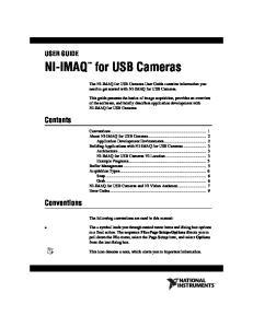 NI-IMAQ for USB Cameras
