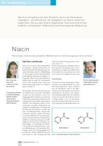Niacin. fort- & weiterbildung Basiswissen aktualisiert