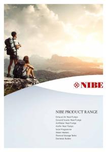 NIBE PRODUCT RANGE NIBE PRODUCT RANGE 1