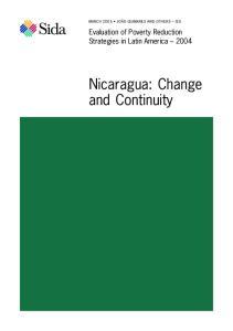 Nicaragua: Change and Continuity