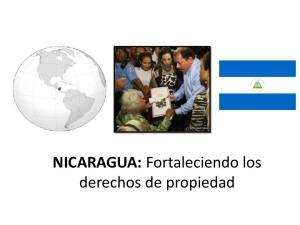NICARAGUA: Fortaleciendo los derechos de propiedad