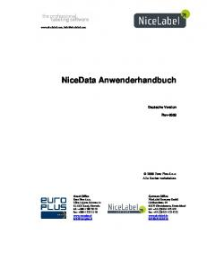 NiceData Anwenderhandbuch