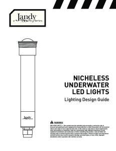 NICHELESS UNDERWATER LED LIGHTS
