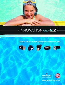 Nidec Pool & SPa Product catalog 2011