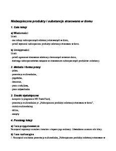Niebezpieczne produkty i substancje stosowane w domu