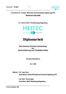 Niederlassung Regensburg. Diplomarbeit