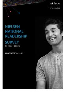 NIELSEN NATIONAL READERSHIP SURVEY