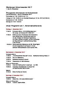 Nienburger Adventszauber Unser Programm am 1. Adventswochenende. 1. bis 23. Dezember