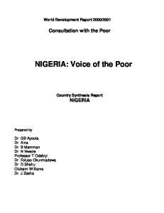 NIGERIA: Voice of the Poor