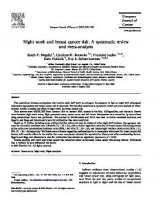 Night work and breast cancer risk: A systematic review and meta-analysis