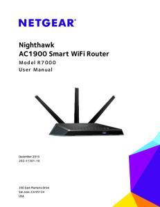 Nighthawk AC1900 Smart WiFi Router