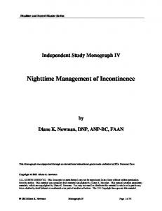 Nighttime Management of Incontinence