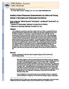 NIH Public Access Author Manuscript Int J Audiol. Author manuscript; available in PMC 2010 March 22