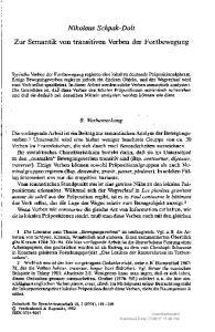 Nikolaus Schpak-Dolt Zur Semantik von transitiven Verben der Fortbewegung