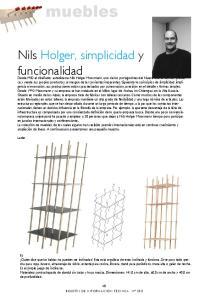 Nils Holger, simplicidad y funcionalidad