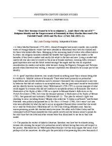 NINETEENTH-CENTURY GENDER STUDIES ISSUE 9.3 (WINTER 2013)
