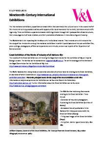 Nineteenth-Century International Exhibitions