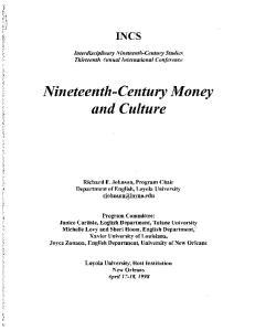 Nineteenth-Century Money and Culture