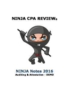 NINJA CPA REVIEW. NINJA Notes Auditing & Attestation - DEMO
