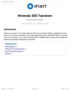 Nintendo 3DS Teardown