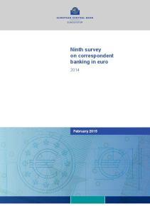 Ninth survey on correspondent banking in euro