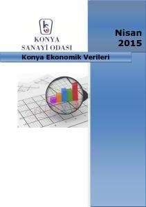 Nisan Konya Ekonomik Verileri