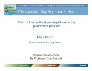 Nitrate flux in the Mississippi River: a big government problem