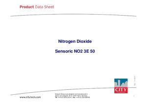 Nitrogen Dioxide. Sensoric NO2 3E 50