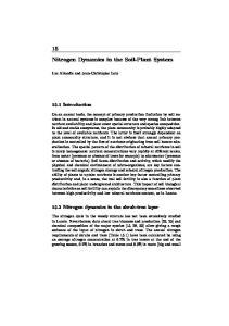 Nitrogen Dynamics in the Soil-Plant System