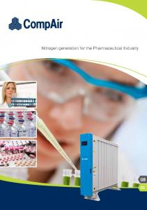 Nitrogen generation for the Pharmaceutical Industry