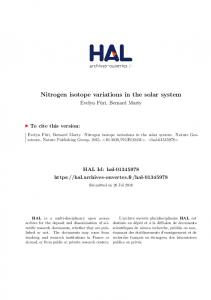 Nitrogen isotope variations in the solar system