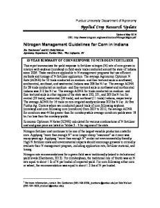 Nitrogen Management Guidelines for Corn in Indiana
