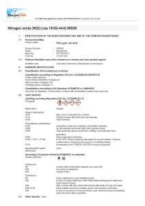 Nitrogen oxide (NO2) (cas ) MSDS