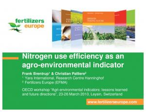 Nitrogen use efficiency as an agro-environmental indicator