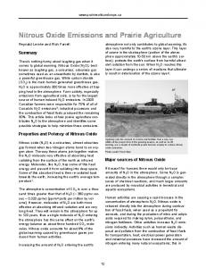 Nitrous Oxide Emissions and Prairie Agriculture