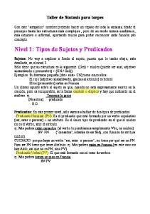 Nivel 1: Tipos de Sujetos y Predicados