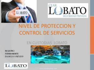 NIVEL DE PROTECCION Y CONTROL DE SERVICIOS