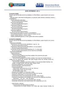 NIVEL INTERMEDIO 1 (B1.1)