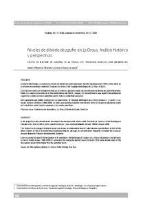 Niveles de dióxido de azufre en La Oroya. Análisis histórico y perspectivas