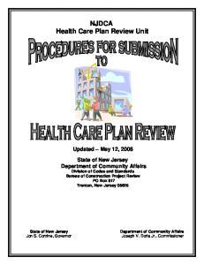 NJDCA Health Care Plan Review Unit