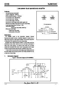 NJM358C. Low power dual operational amplifier