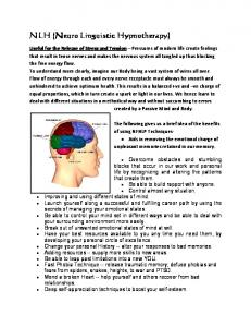 NLH (Neuro Linguistic Hypnotherapy)