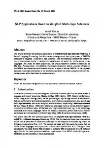 NLP Applications Based on Weighted Multi-Tape Automata