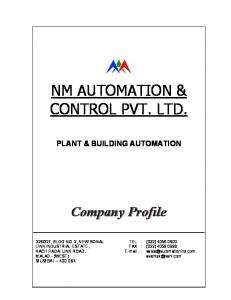 NM AUTOMATION & CONTROL PVT. LTD
