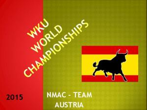 NMAC - TEAM 2015 AUSTRIA