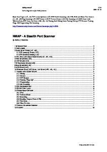 NMAP - A Stealth Port Scanner
