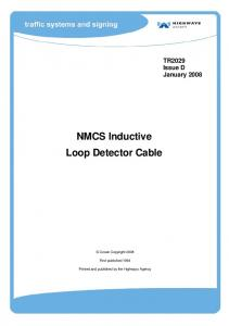 NMCS Inductive Loop Detector Cable