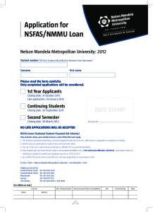 NMMU Loan