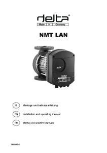 NMT LAN. Montage und betriebsanleitung. Installation and operating manual. Montaj ve kullanim kilavuzu v1